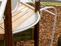 Nordic pine timber play equipment